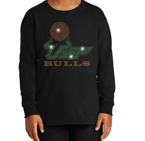 USF Bulls Softball - University of South Florida - Youth Long Sleeve Youth Long Sleeve Becky`s Boutique Extra Small