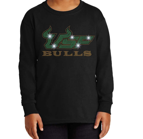 USF Bulls - University of South Florida - Youth Long Sleeve Youth Long Sleeve Becky`s Boutique Extra Small