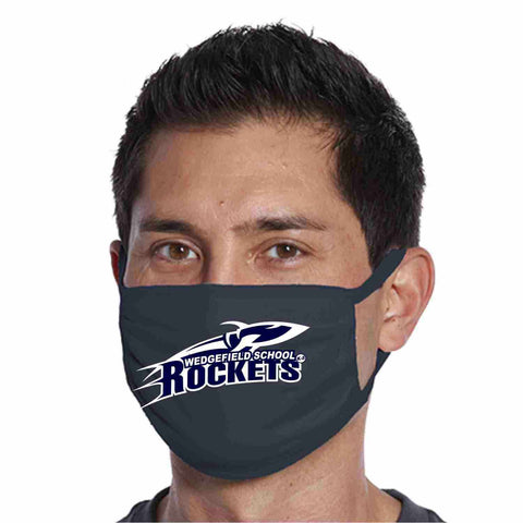 Wedgefield K-8 School, Rockets Face Mask perfect for teams, schools and events Face Mask Beckys-Boutique.com