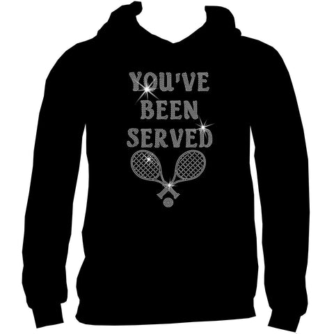 You've Been Served - Ladies Short, Long Sleeve, Tank or Hoodie Sweatshirt-Ladies Short Sleeve V-neck-Becky's Boutique-Extra Small-Adult Hoodie Sweatshirt-Beckys-Boutique.com