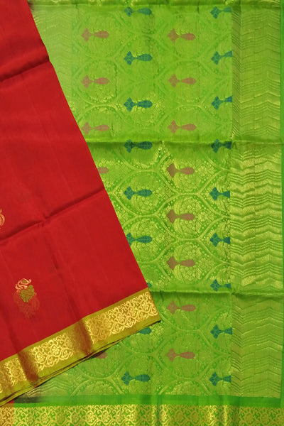 Fasnic's Pure Soft Silk Saree - Self Design Saree . Unstitched blouse attached