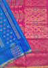 Soft Silk Saree Blue & Pink color with Floral Design Folded View Fasnic