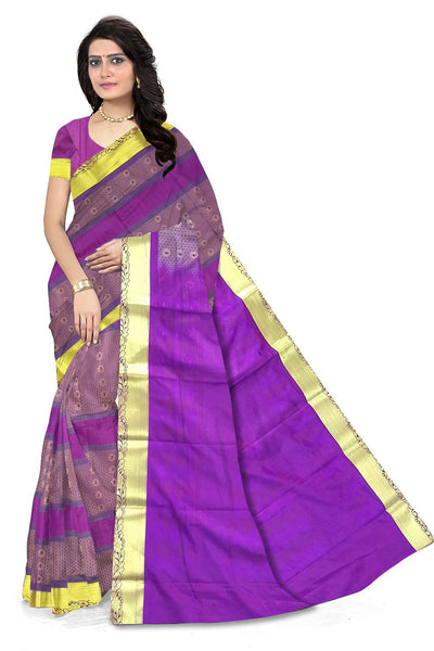 Stunning Multicolor Art Silk Saree front view