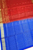 Soft Silk Saree Red & Blue Floral color with Design Full View Fasnic