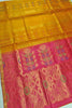 Soft Silk Saree Orange & Violet color with Floral Design Full View Fasnic