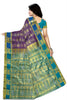 Stunning Purple & Blue Art Silk Saree Back view