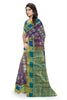 Stunning Purple & Blue Art Silk Saree Side view