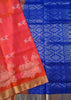 Soft Silk Saree Pink & Blue color with Animal & Self Design Folded View Fasnic