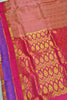 Full view of Fasnic's pink light wight silk saree with self design. Unstitched blouse attached