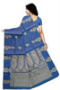 Cheerful Dark Blue & Golden Pure Cotton Saree Back view