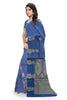 Cheerful Dark Blue & Golden Pure Cotton Saree Side view
