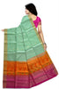 Light Green Handloom Soft Silk Saree Back view