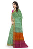 Light Green Handloom Soft Silk Saree Side view