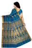 Fascinating Blue Cotton Silk Saree Back view