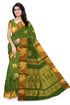 Attractive Green Cotton Silk Saree