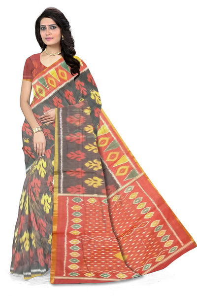 Fascinating Multi Color Pochampally Full Dye Cotton Silk front view
