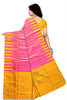 Pretty Pink & Yellow Lightweight Handloom Dye Soft Silk Saree Back view