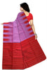 Delightful Violet & Red Lightweight Handloom Dye Soft Silk Saree Back view