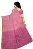 Violet and Pink Art Silk Saree Back view
