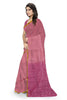 Violet and Pink Art Silk Saree Side view