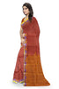 Red and Orange Art Silk Saree Side view