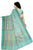 Fascinating Green Manipuri Cotton Saree Back view
