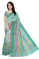 Fascinating Green Manipuri Cotton Saree front view