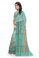 Fascinating Green Manipuri Cotton Saree Side view