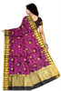 Attractive Violet Manipuri Cotton Saree Back view