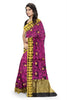 Attractive Violet Manipuri Cotton Saree Side view