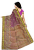 Marvelous Pink & Golden Art Silk Saree Back view