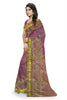 Marvelous Pink & Golden Art Silk Saree Side view