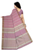 Delightful Violet & Gray Jute Cotton Saree Back view