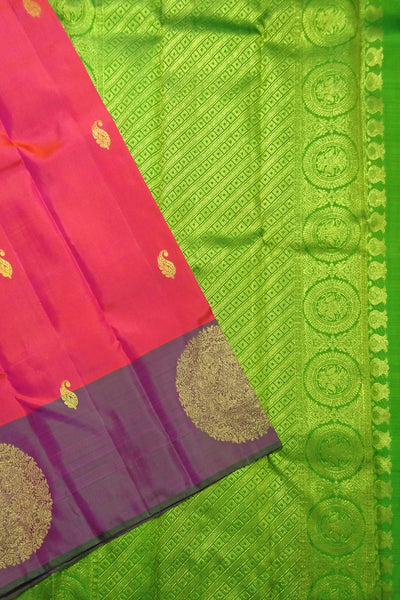 Deep Pink & Lime Green Kanjeevaram Bridal Collection