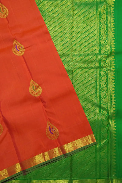 Red and Golden Green Kanjeevaram Bridal Collection