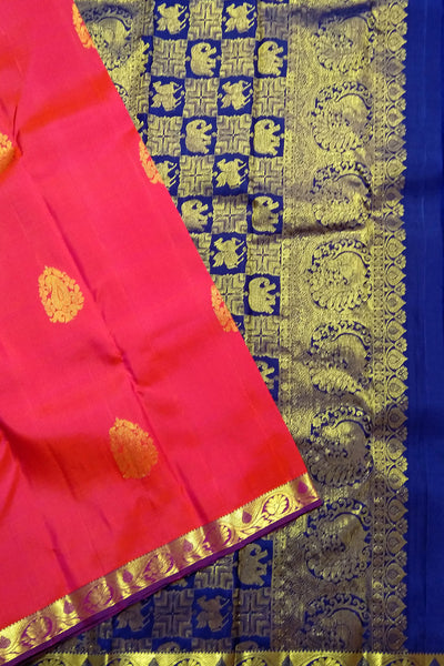 Deep Pink & Blue Kanjeevaram Bridal Collection