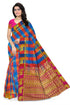 Attractive Multicolor Checked Art Silk Saree
