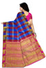 Radiant Multicolor Checked Art Silk Saree Back view