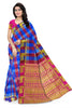 Radiant Multicolor Checked Art Silk Saree front view