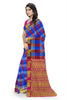 Radiant Multicolor Checked Art Silk Saree Side view
