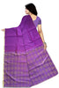 Fascinating Purple Art Silk Saree Back view