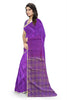 Fascinating Purple Art Silk Saree Side view
