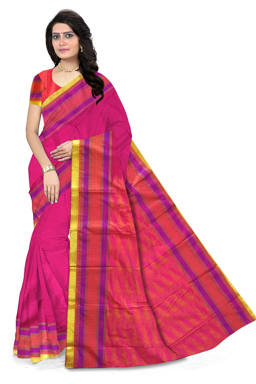 82af7cbbd9 Attractive Pink Art Silk Saree | Art Silk | Fasnic
