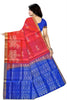 Soft Silk Saree Pink & Blue color with Animal & Self Design Back View Fasnic