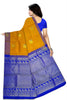 Orange & Blue Kanjeevaram Silk Saree