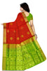 Fasnic's Pure Soft Silk Saree - Leaf Design Saree . Unstitched blouse attached