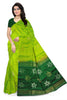 Fasnic's Borderless Pure Soft Silk Saree - Floral Design Saree . Unstitched blouse attached