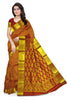Kanchipuram Silk Saree - Red & Gold - Floral Design
