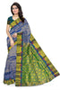 Kanchipuram Silk Saree - Blue & Green - Floral Design