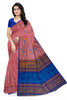 Soft Silk Saree Pink color with Instrument Design Front View from Fasnic
